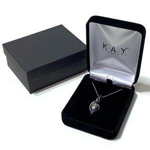Kay Jewelers Sterling Silver Diamond Necklace